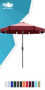 frills patio umbrella