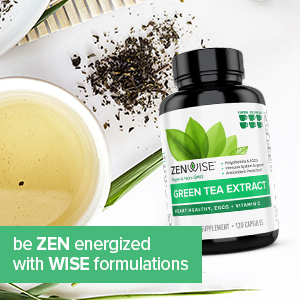 green tea extract be zen energized with wise formulations