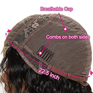 side part of the wig cap