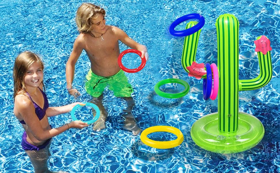 Inflatable Pool Ring Toss