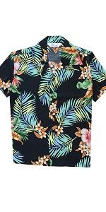 alvish Boys hawaiian shirts leaves leaf