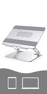 AWAVO Laptop Stand, Ergonomic Aluminum Computer Stand for Desk