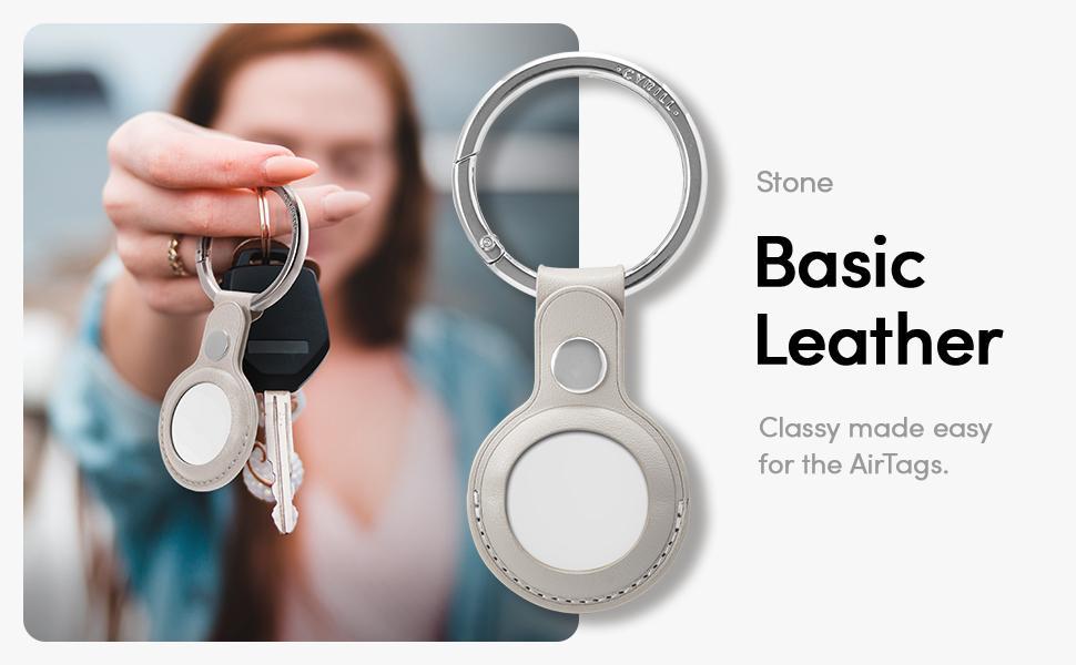 Apple AirTag Case Basic Leather