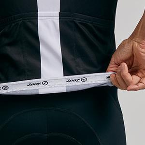 Men's cycling jersey with gripper hem