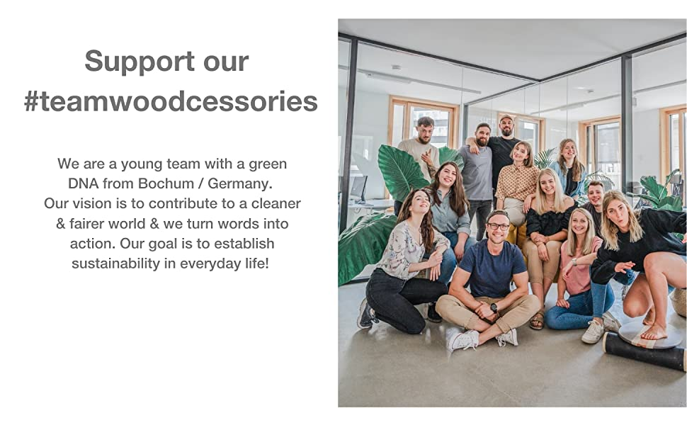 Support our teamwoodcessories, Germany, Start Up, Bochum, sustainable