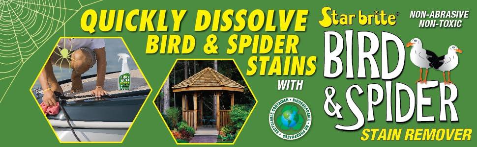 Star brite Bird & Spider Stain Remover, Non-abrasive, non-toxic, cleaner