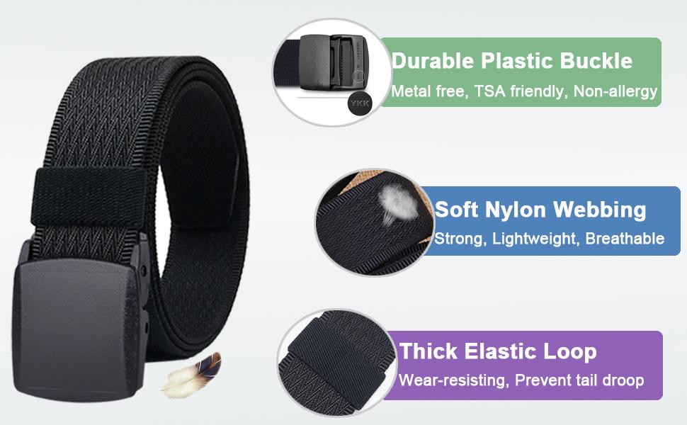 nylon belt with plastic belt