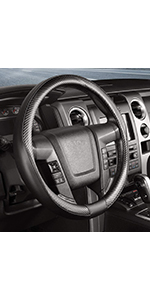 Steering Wheel Cover Carbon Fiber Pattern
