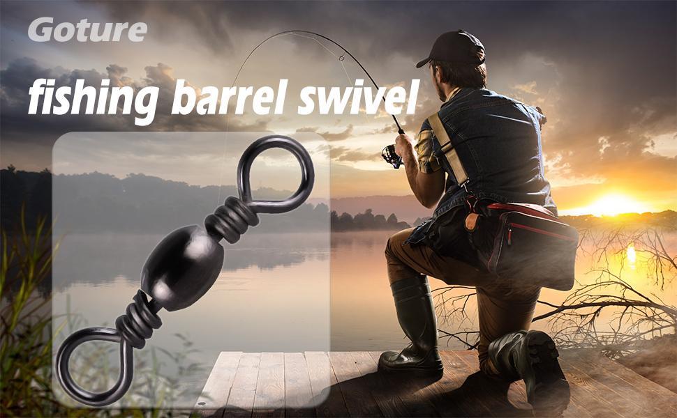 Fishing barrel swivel