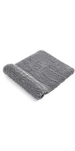 Alfombra de baño gris antideslizante
