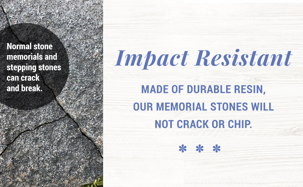 Won't Chip or Crack - Made of Impact Resistant Durable Resin