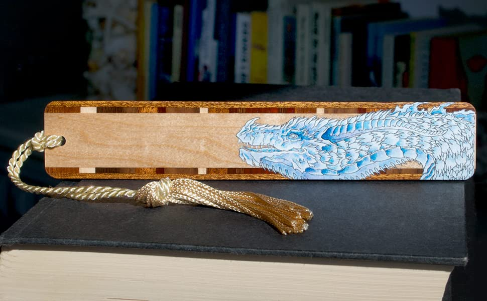 KB Dragon wood bookmark