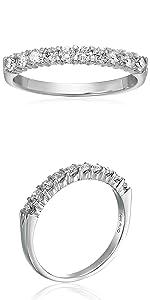 Vir Jewels 1/2 cttw Diamond Wedding Band 14K White Gold Prong Ring Round