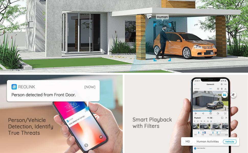 AI Detection Alert Notification Person/Vehicle Detection