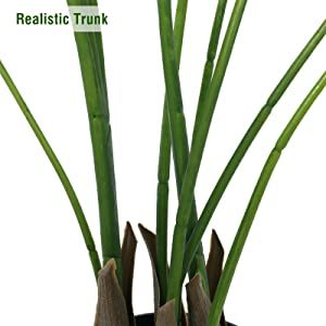 artificial palm tree plant fake plants tropical palm for home decor indoor fake trees