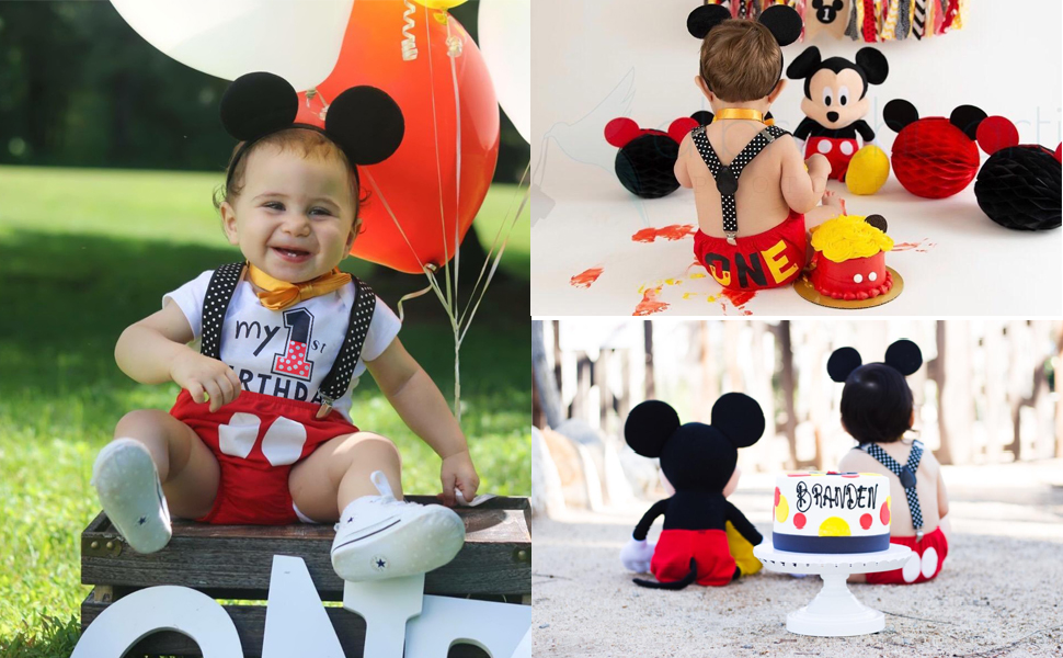 Mouse 1st Birthday Outfit for Cake Smash Photo Shoot