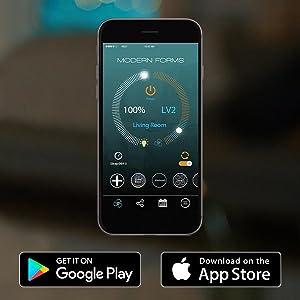 Modern Forms, Modern Forms Fans, Modern Forms Smart Fans, Smart Fans, Fan App Control, Fan App