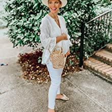 Blouses for Women Casual V Neck Long Sleeve Fashion Work Long Sleeve Shirt Tops