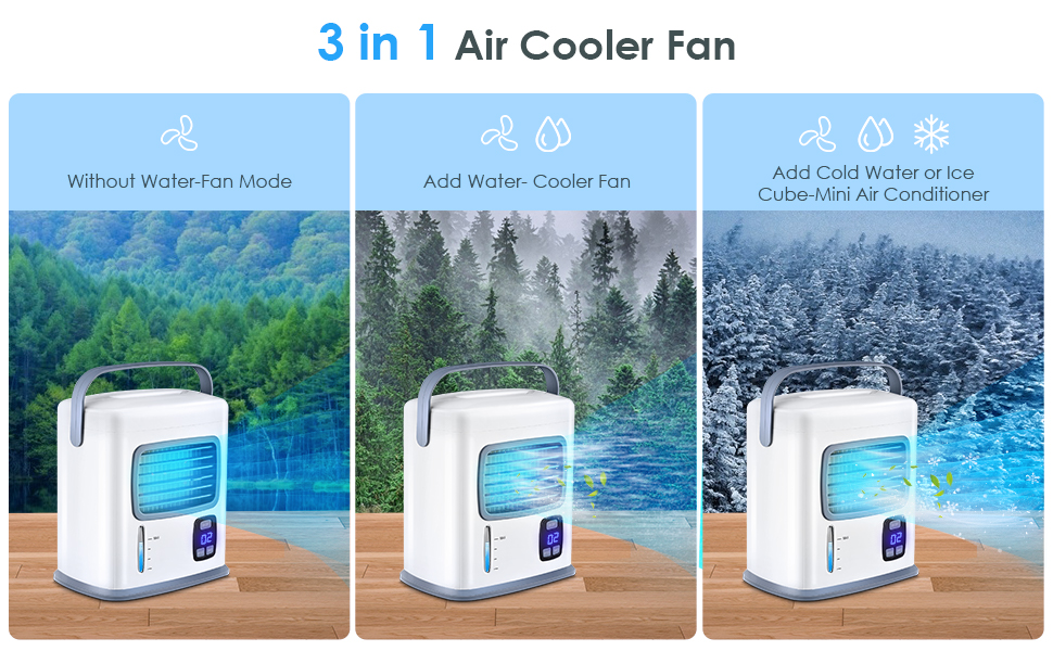 3 in 1 mini personal air conditioning fan for summer