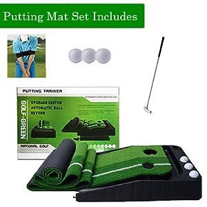 golf putting mat set