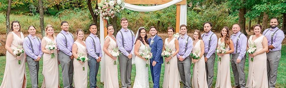 Draped V Neck Bridesmaid Dresses for Women Wedding