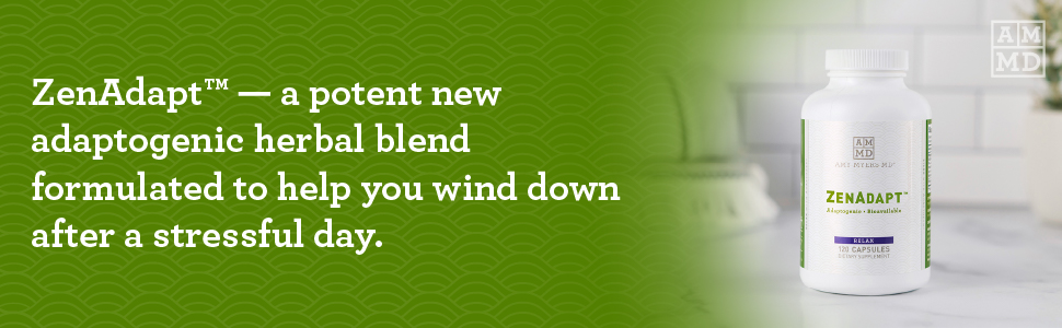 Zendapt a potent new adaptogenic herbal blend formulated to help you wind downs after stressful day