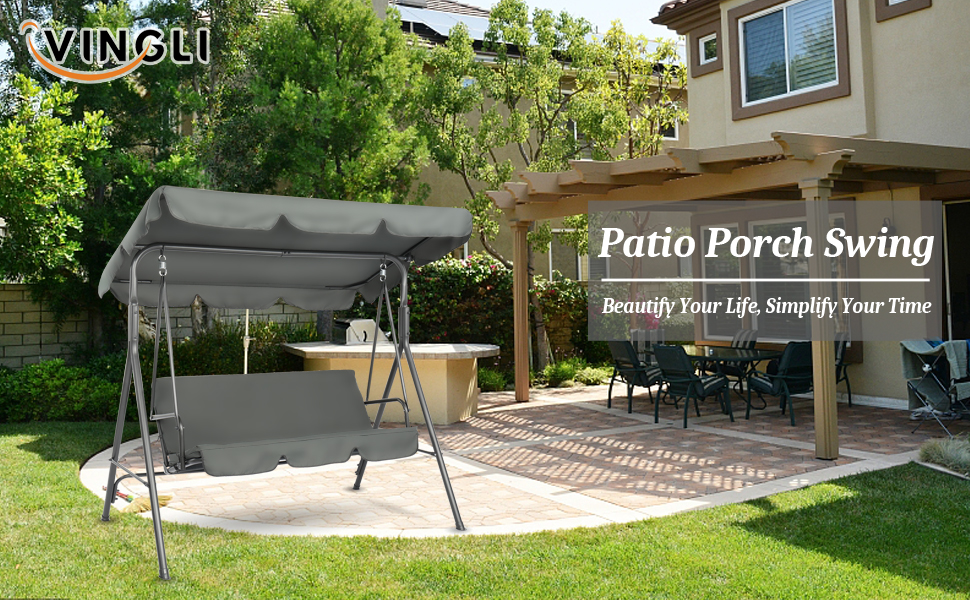 A+1 - porch swing with canopy stand