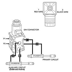 Hydraulic Multiplier Selector Diverter Valve w/Joystick Handle, 13 GPM