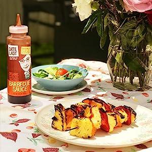 Vegan BBQ sauce on Grilled Pineapple