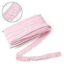 25mm pink Polyester Trimming Tassel Ribbon