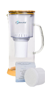 Alkaline Water Glass Pitcher of Life with F007 Ultra Replacement Filter