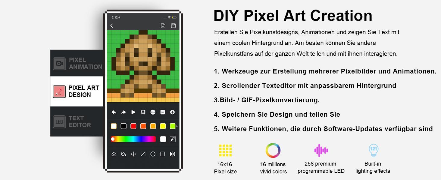 pixel art display