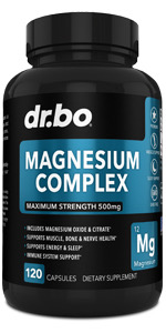 magnesium complex supplement capsules 500mg leg cramps pills constipation citrate oxide muscle aid