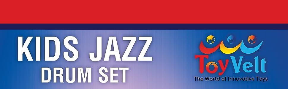 ToyVelt Jazz Drum Set