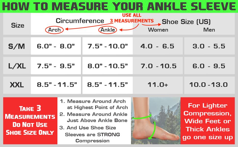 ankle sleeve sizing chart nano socks compression socks alternate