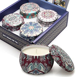 Candles for Home Scented Candle Gifts Set for Women Aromatherapy Jar Candle Soy Wax