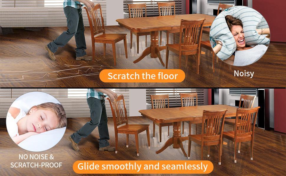 Chair Leg Caps Feature