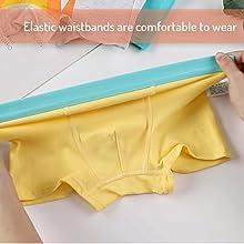 La cintura ancha y elástica es cómoda de llevar y más fácil de poner y quitar.