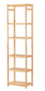 Bamboo Bathroom Shelf 6-Tier