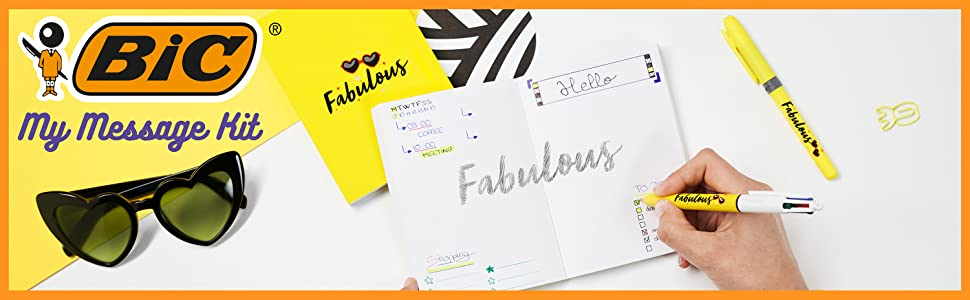 BIC My Message Fabulous Kit Gift Pack for Kids