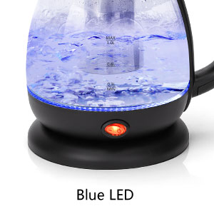 There will be a blue LED prompt when boiling water.