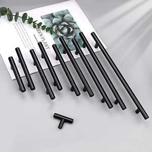 BLACK SOLID STAINLESS STEEL cabinet pull