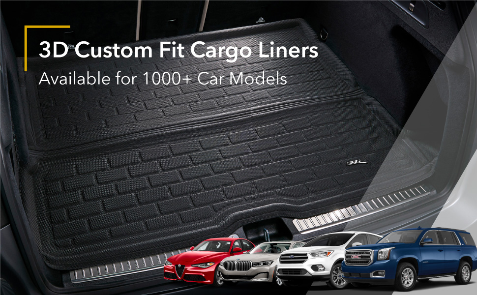 3D MAXpider Custom Fit All Weather Cargo Mats