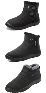 mens women snow boots winter warm shoes for men women fur lined ankle boots for adult