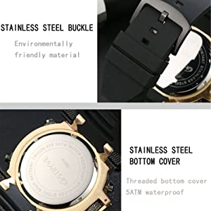 Use unfolding pin buckle, easy to adjust the wearing range.