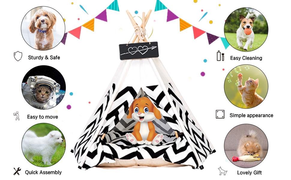 Pets Teepee Tent