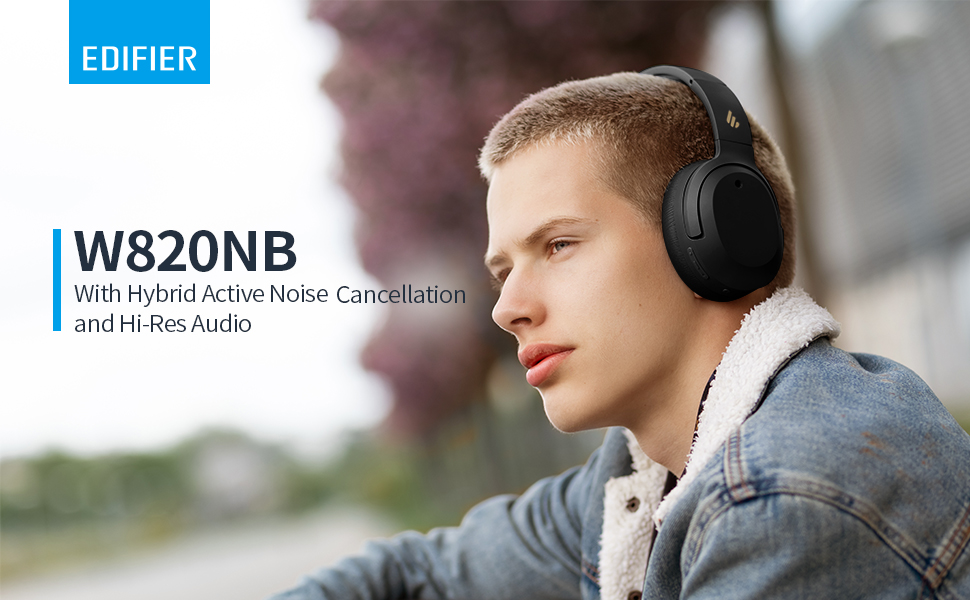 EDIFIER W820NB with Hybrid  Active Noise Cancellation and Hi-Res Audio
