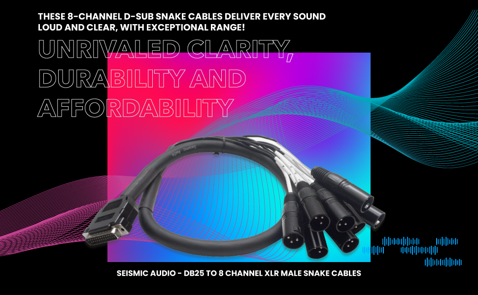 Seismic Audio - DB25 to 8 Channel XLR Male 3 Foot D-Sub Snake Cable