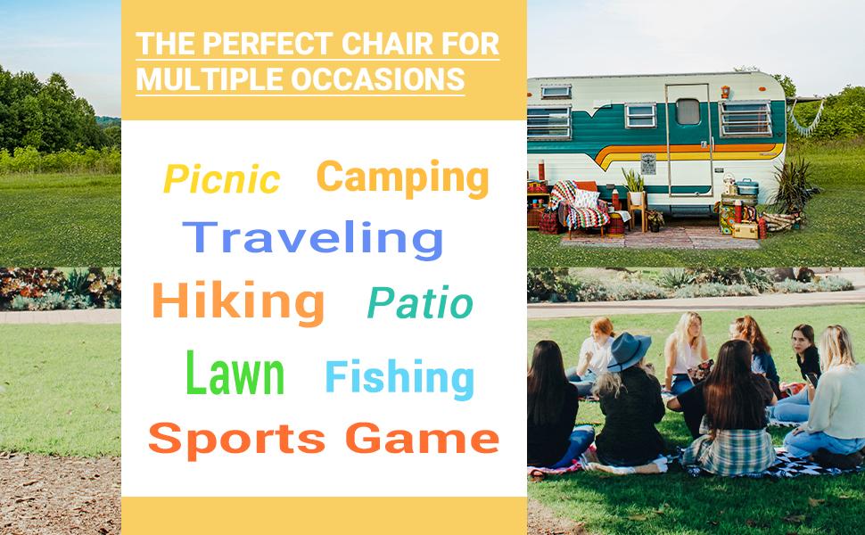 Lumbar Support Camping Chair