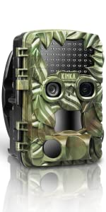 Dual Lens Trail Camera for Hunting with 32GB SD Card, Waterproof Scouting Game Camera
